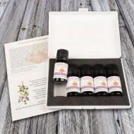 coffret huile essentielle pour la cuisine provençale ouvert