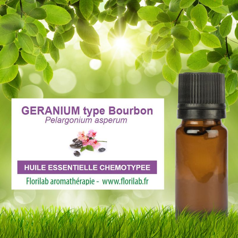 Huile essentielle de GERANIUM type BOURBON
